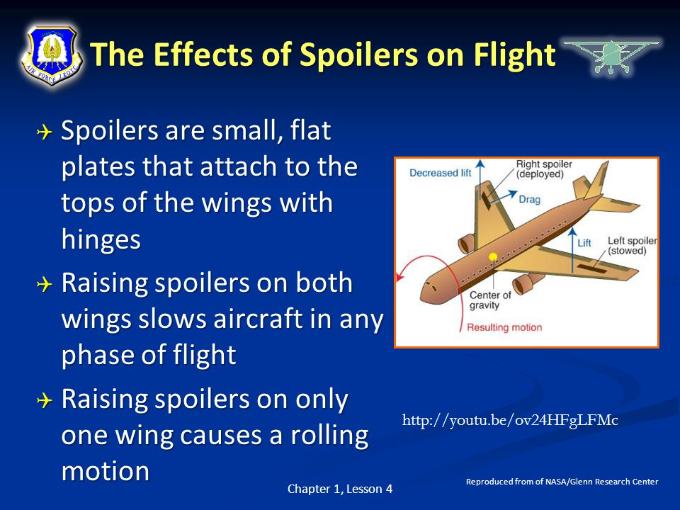 The Effects of Spoilers on Flight