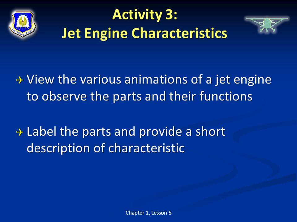 Activity 3: Jet Engine Characteristics