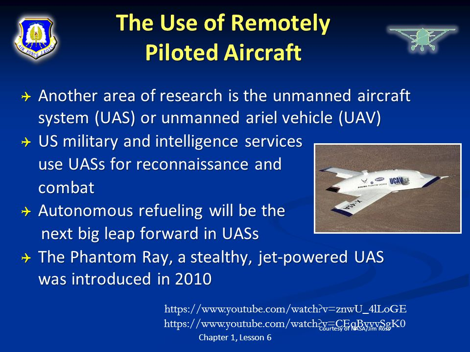 The Use of Remotely Piloted Aircraft