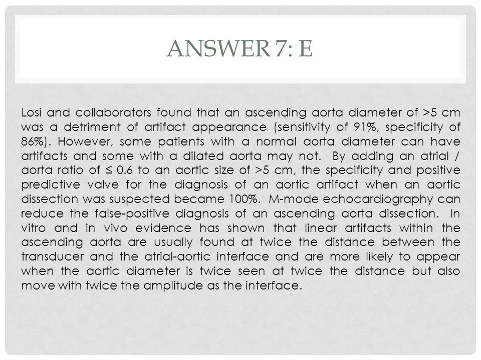 Answer 7: e