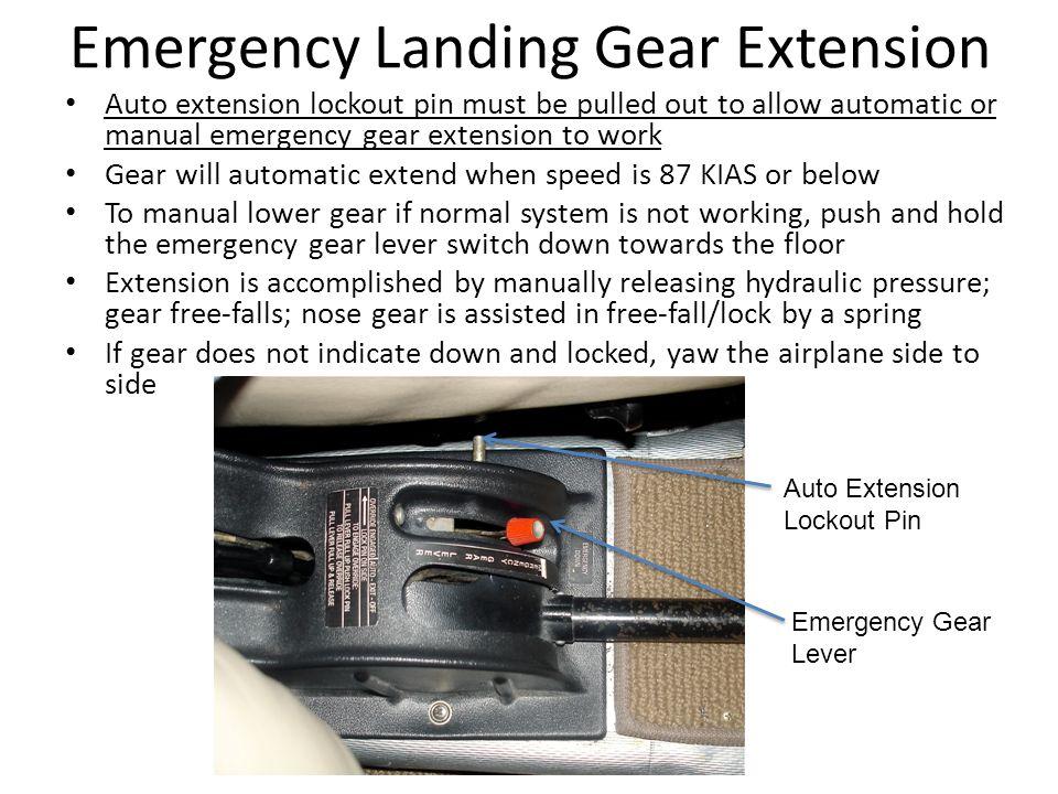 Emergency Landing Gear Extension