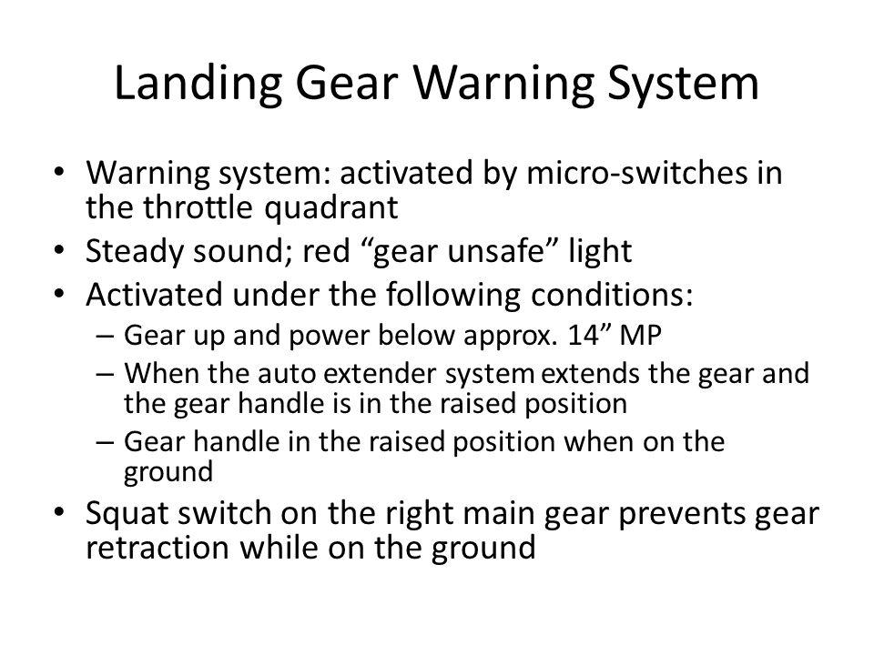 Landing Gear Warning System