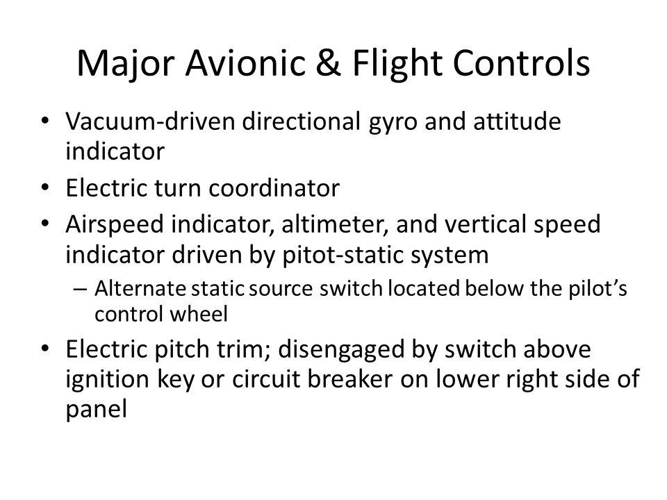 Major Avionic & Flight Controls