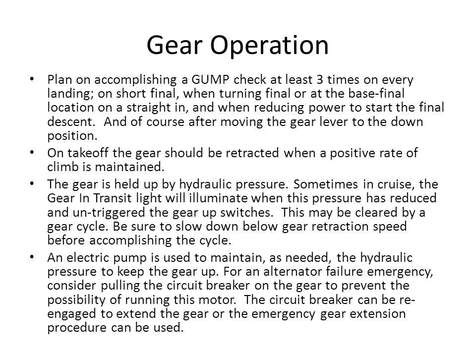 Gear Operation