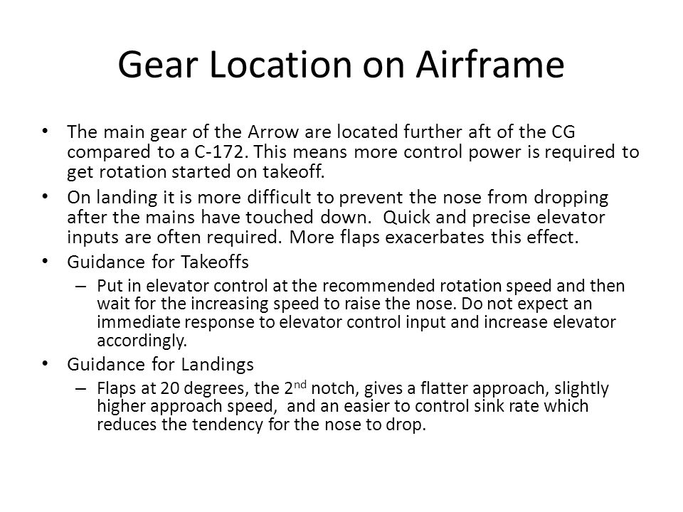 Gear Location on Airframe