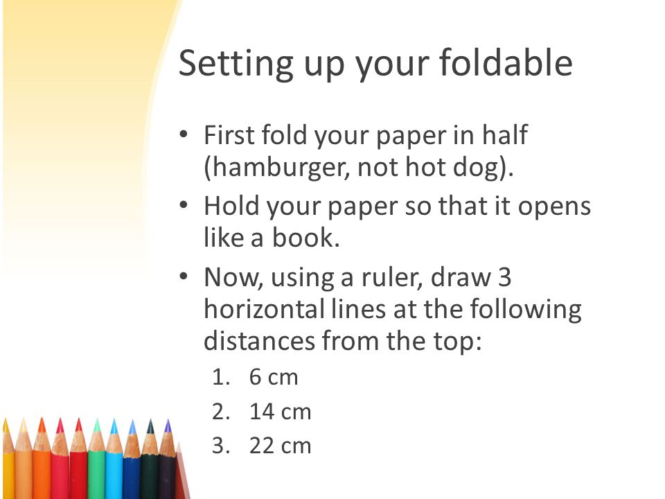 Setting up your foldable