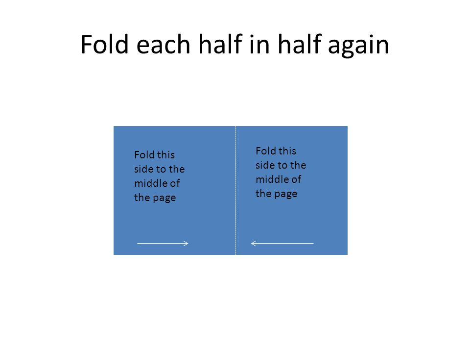 Fold each half in half again