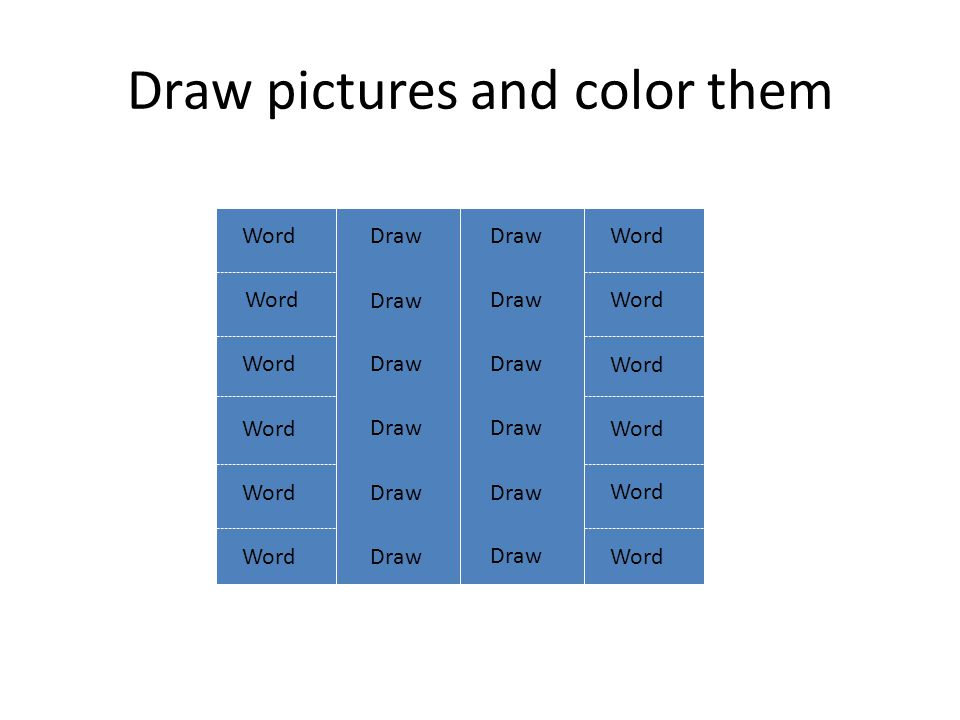 Draw pictures and color them