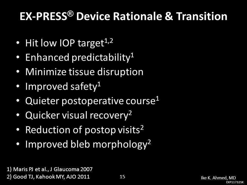 EX-PRESS® Device Rationale & Transition