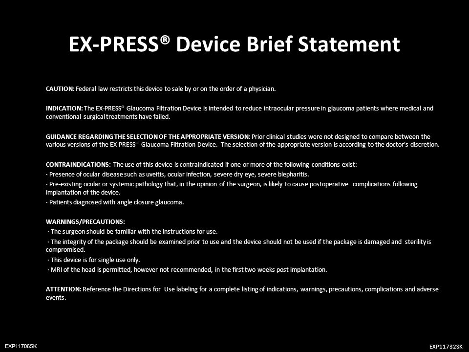 EX-PRESS® Device Brief Statement