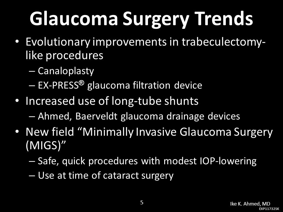 Glaucoma Surgery Trends