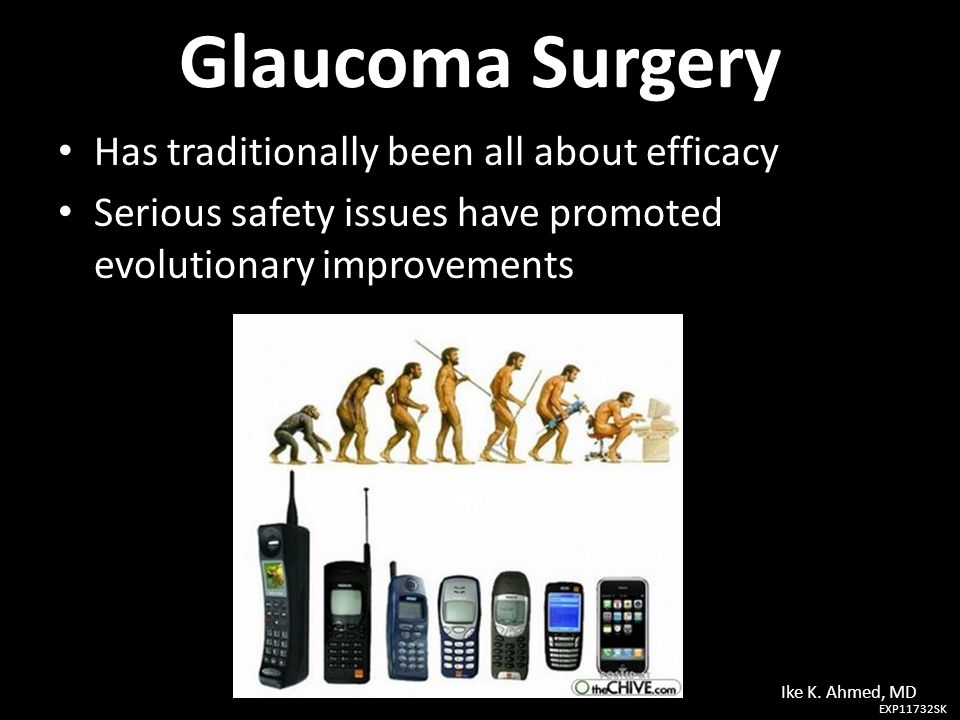 Glaucoma Surgery Has traditionally been all about efficacy