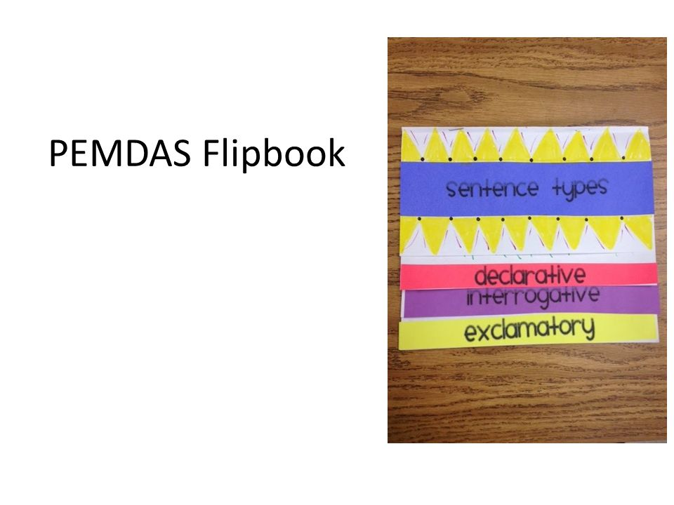 PEMDAS Flipbook