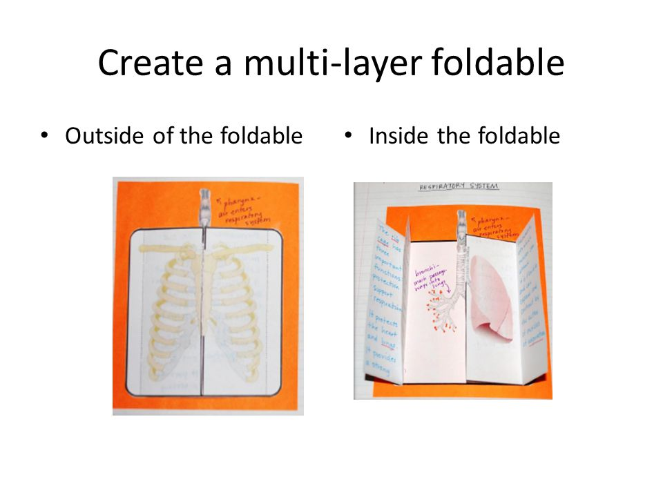 Create a multi-layer foldable