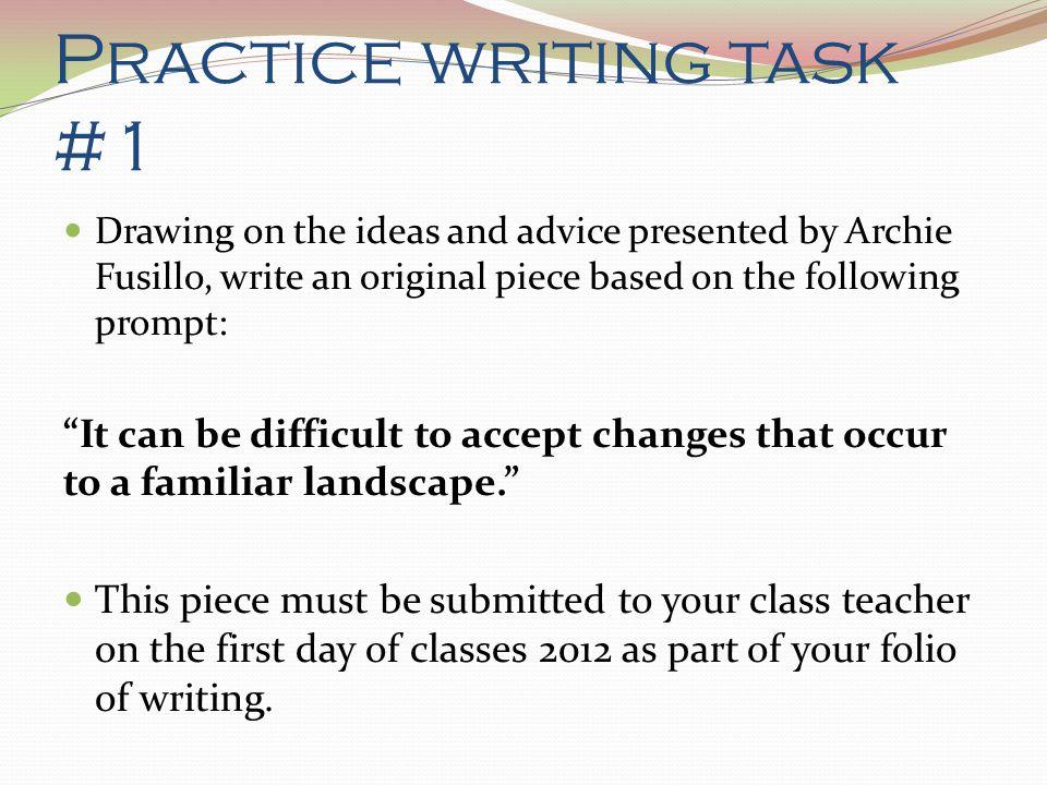 Practice writing task #1