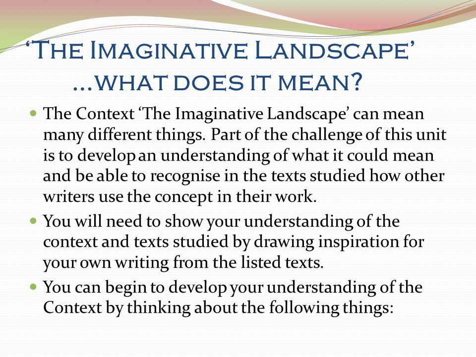 Imaginative Essay