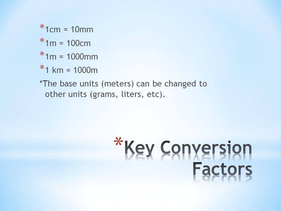 Key Conversion Factors