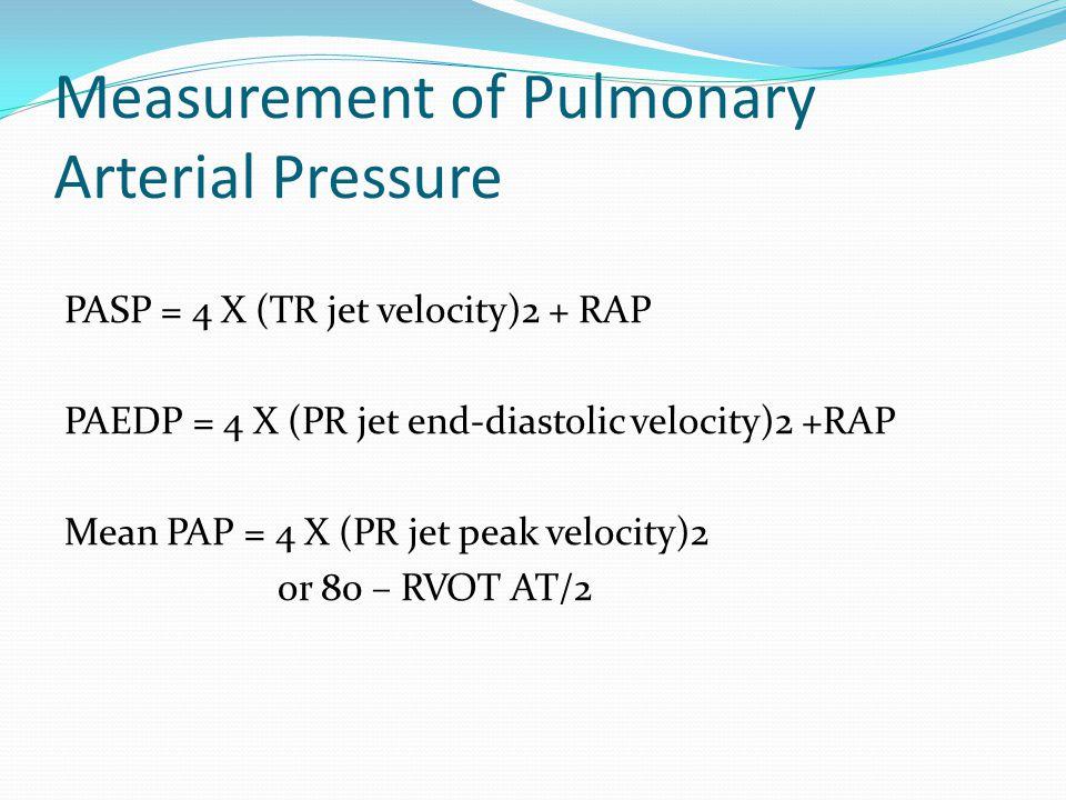 Measurement of Pulmonary Arterial Pressure