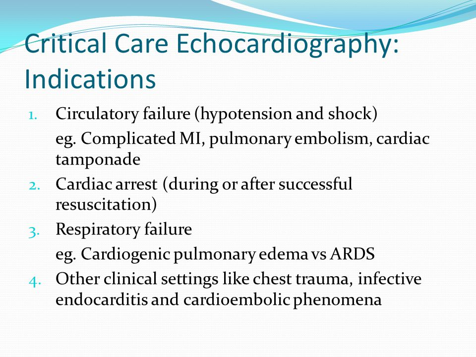 Critical Care Echocardiography: Indications