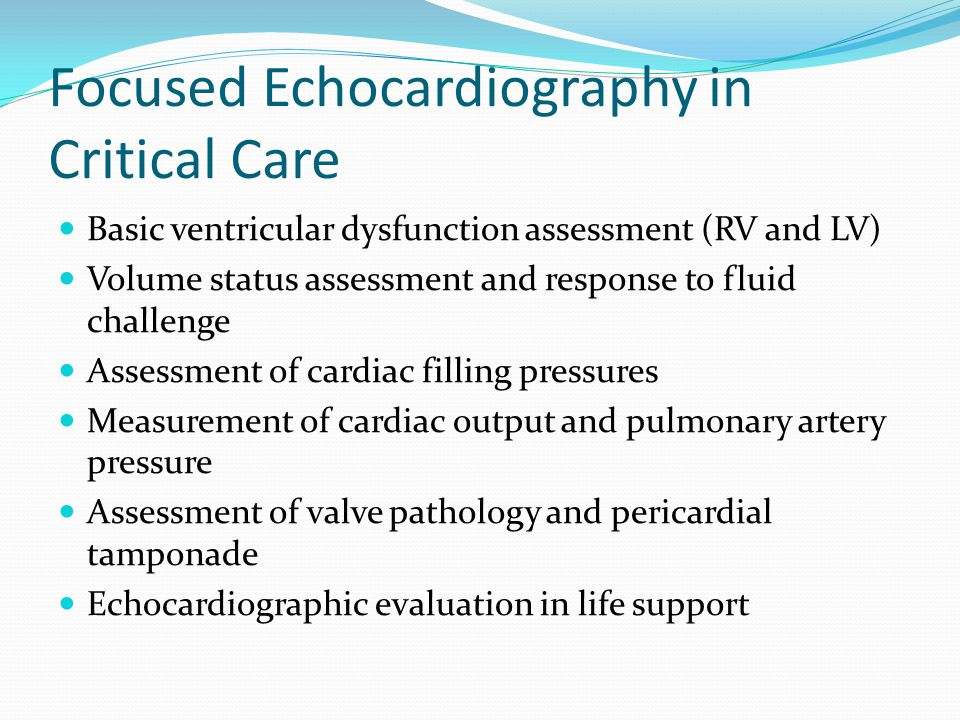 Focused Echocardiography in Critical Care