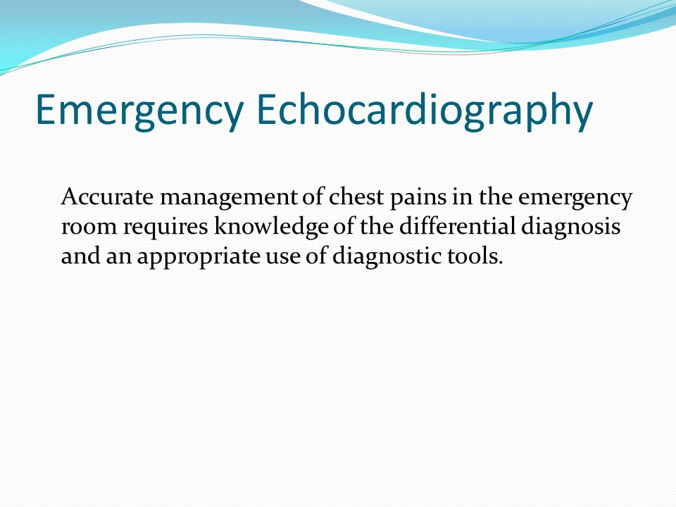 Emergency Echocardiography