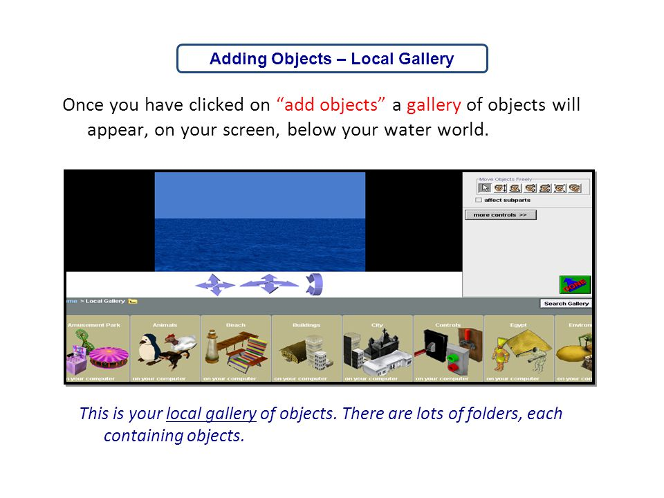 Adding Objects – Local Gallery