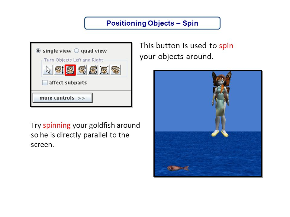 Positioning Objects – Spin