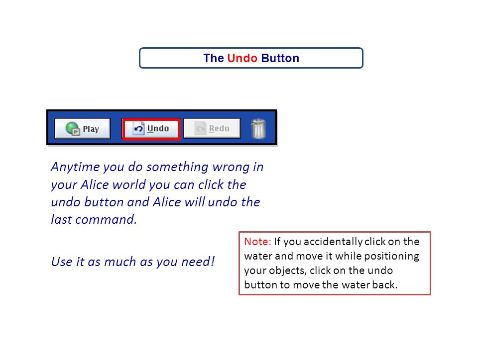The Undo Button