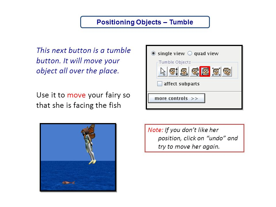 Positioning Objects – Tumble