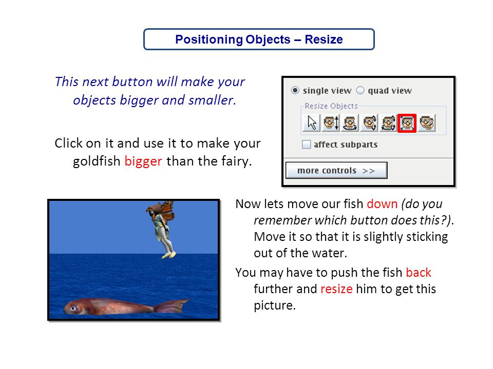 Positioning Objects – Resize