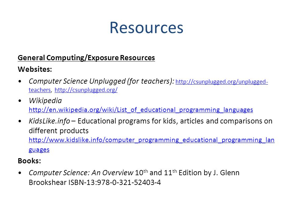Resources General Computing/Exposure Resources Websites: