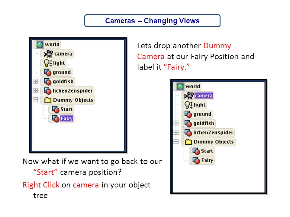 Cameras – Changing Views