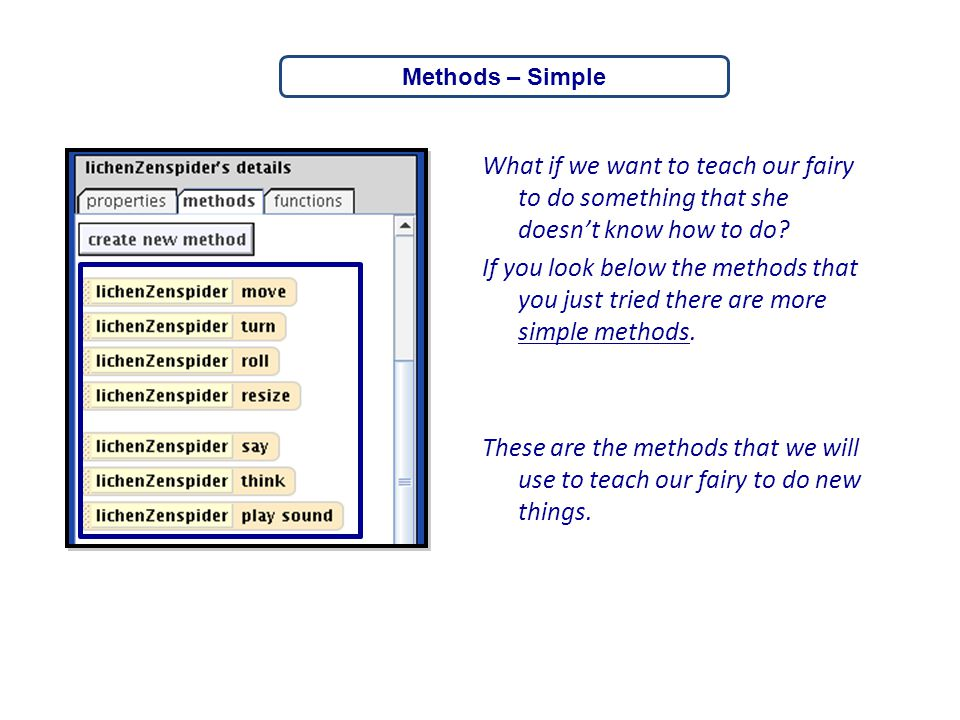 Methods – Simple