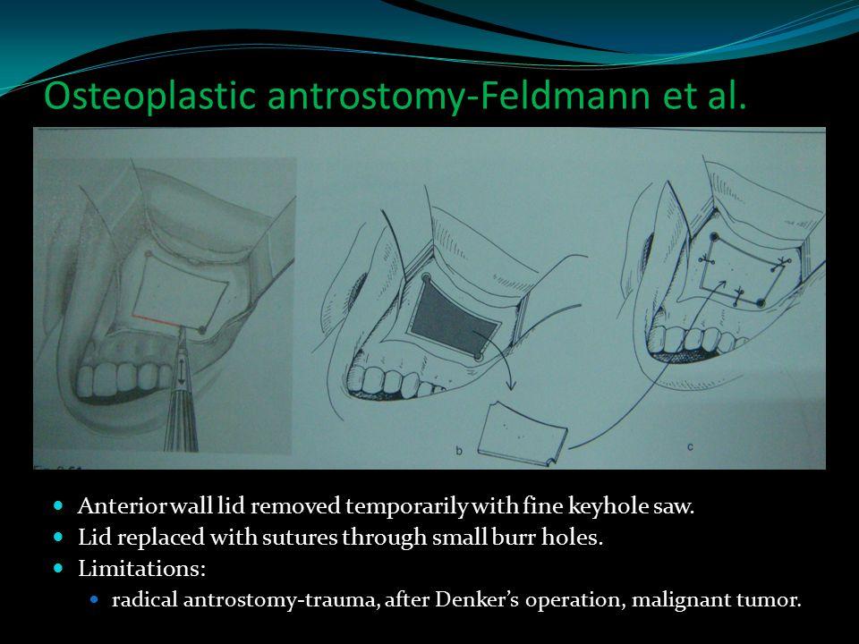 Osteoplastic antrostomy-Feldmann et al.