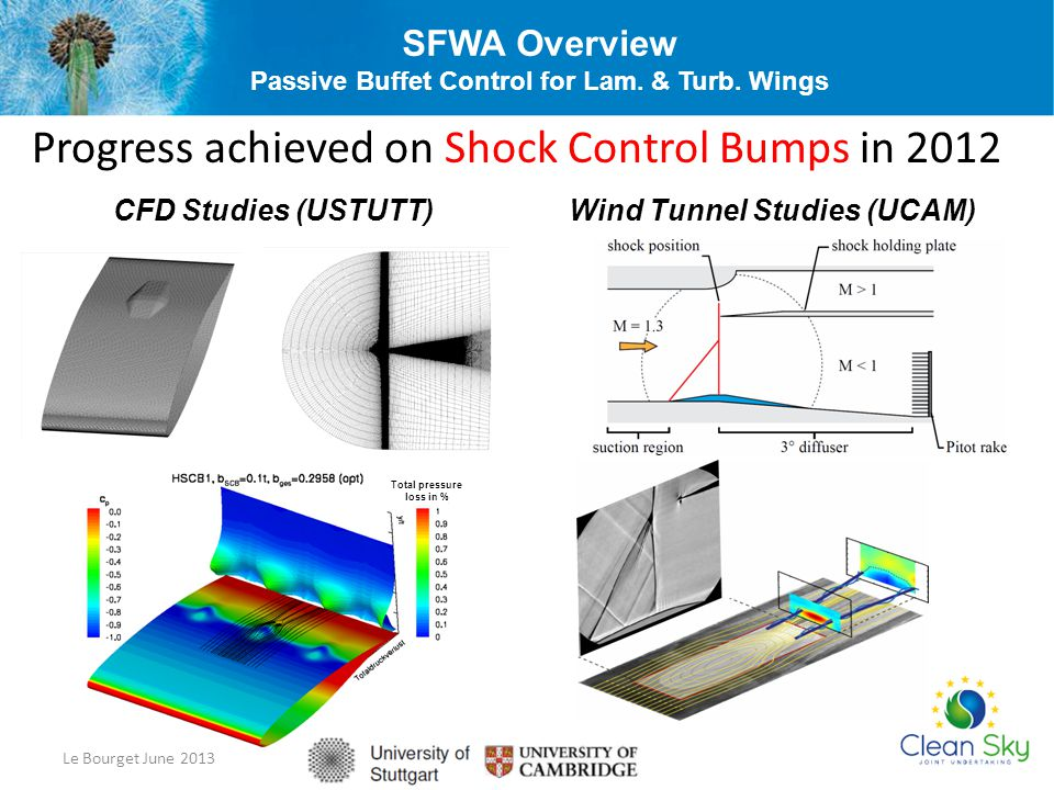 SFWA Overview Passive Buffet Control for Lam. & Turb. Wings