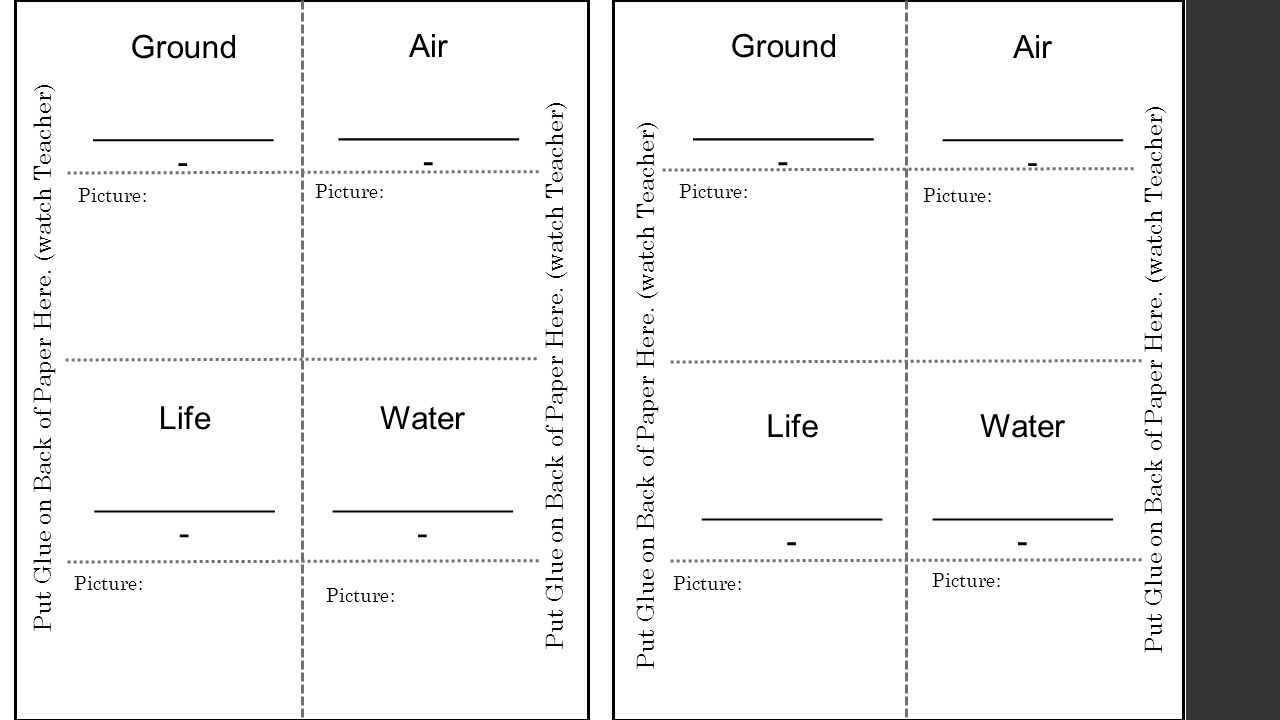 Ground __________ - Air __________ - Ground __________ - Air