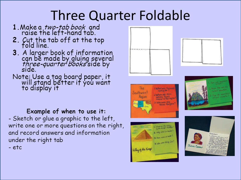 Three Quarter Foldable