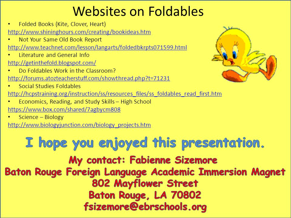 Websites on Foldables I hope you enjoyed this presentation.