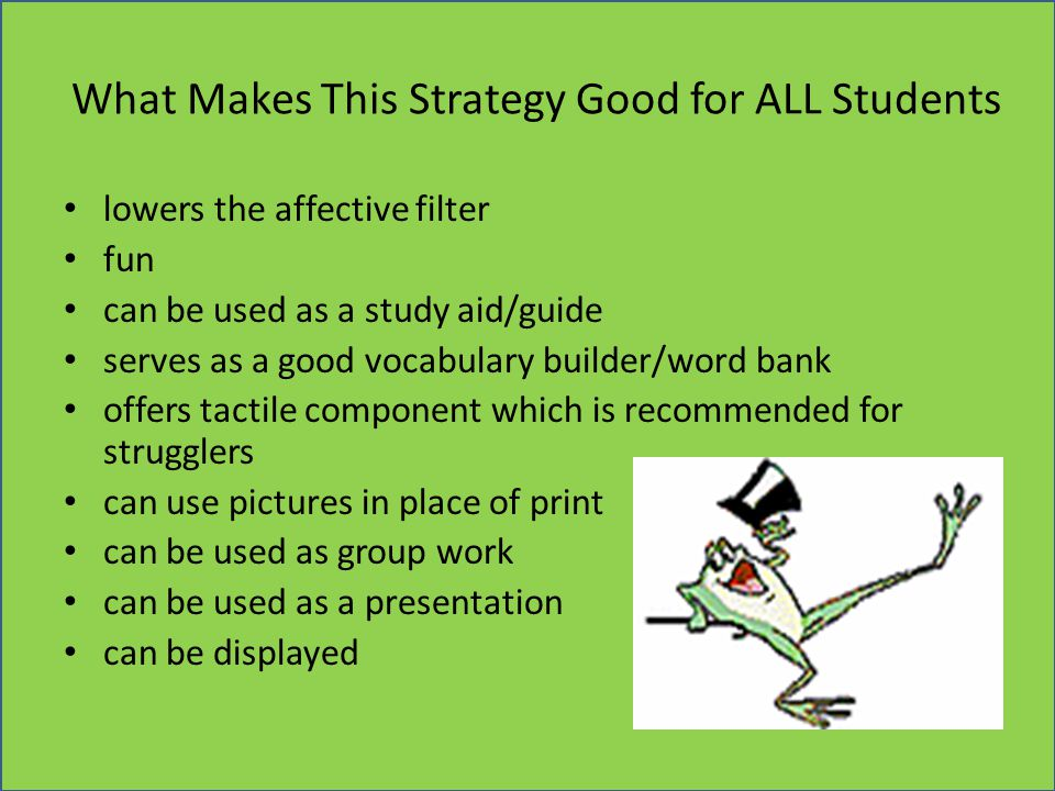What Makes This Strategy Good for ALL Students