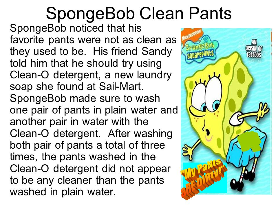 SpongeBob Clean Pants My PaNts aRE DIRty!
