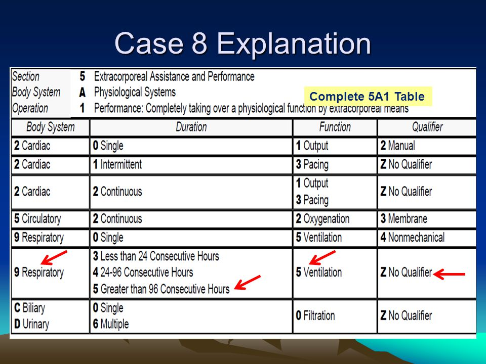 Case 8 Explanation Complete 5A1 Table