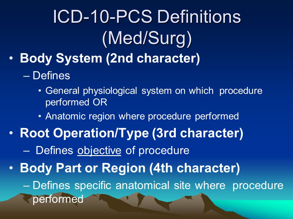 ICD-10-PCS Definitions (Med/Surg)