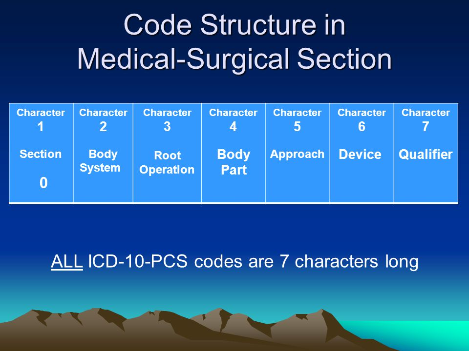 Code Structure in Medical-Surgical Section