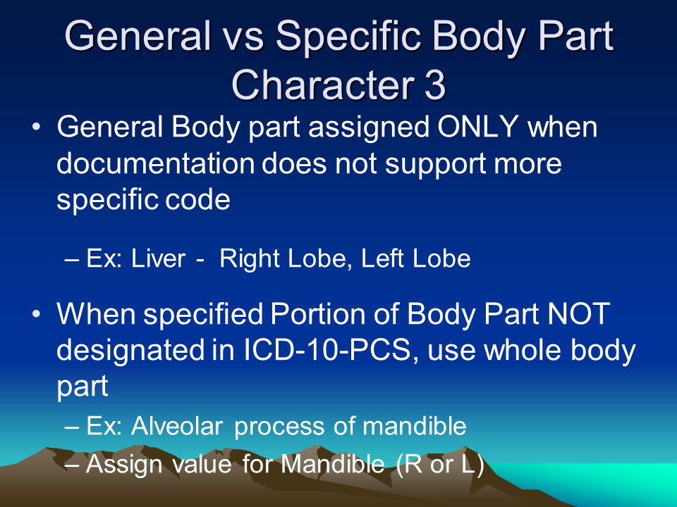 General vs Specific Body Part Character 3