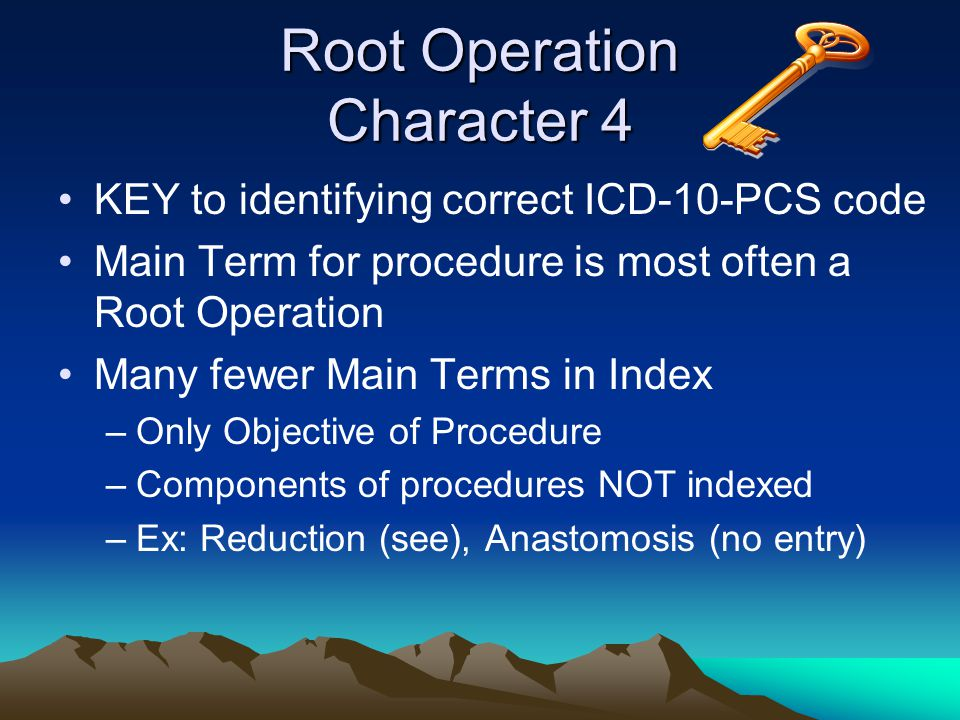 Root Operation Character 4