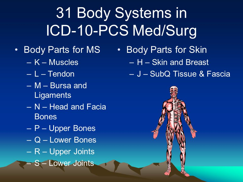 31 Body Systems in ICD-10-PCS Med/Surg