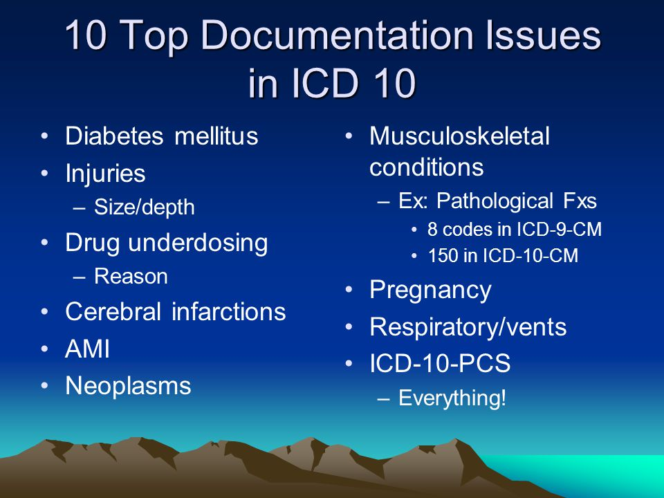 10 Top Documentation Issues in ICD 10