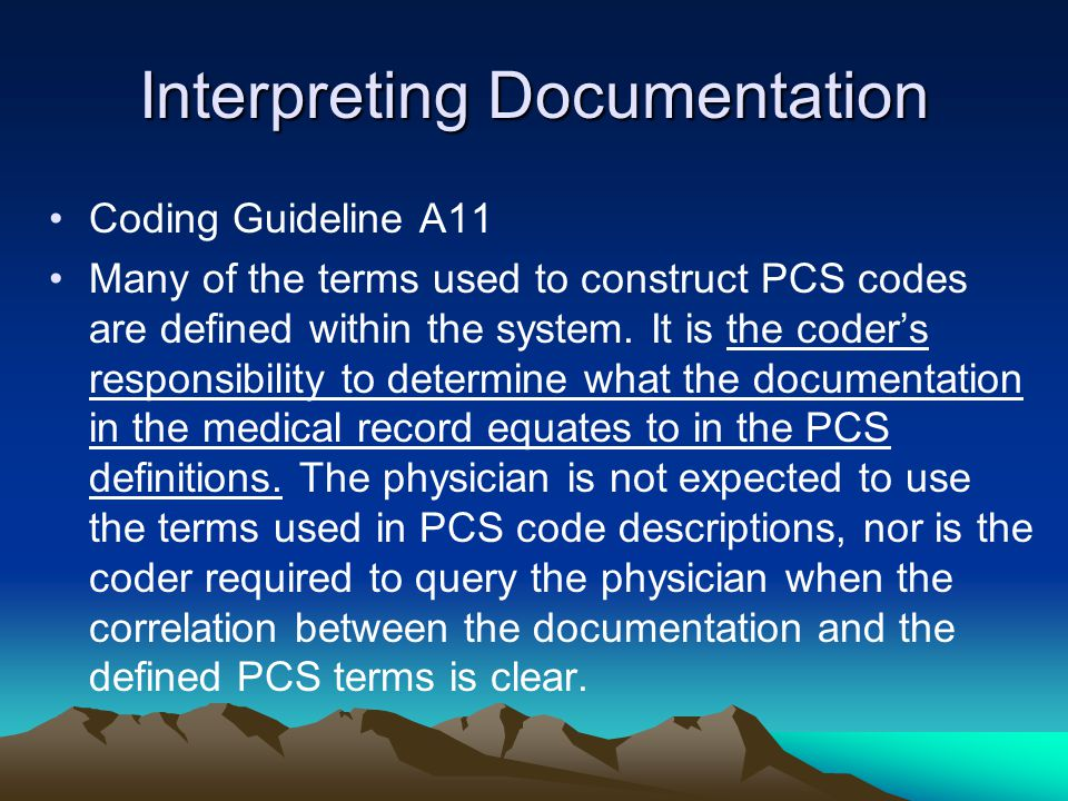 Interpreting Documentation