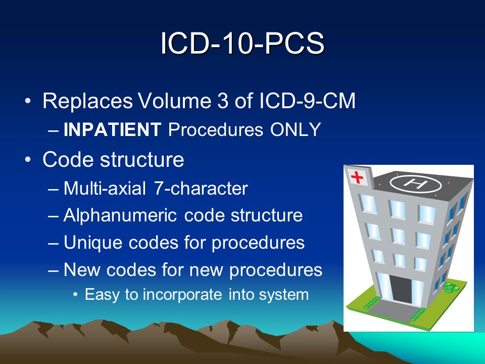 ICD-10-PCS Replaces Volume 3 of ICD-9-CM Code structure