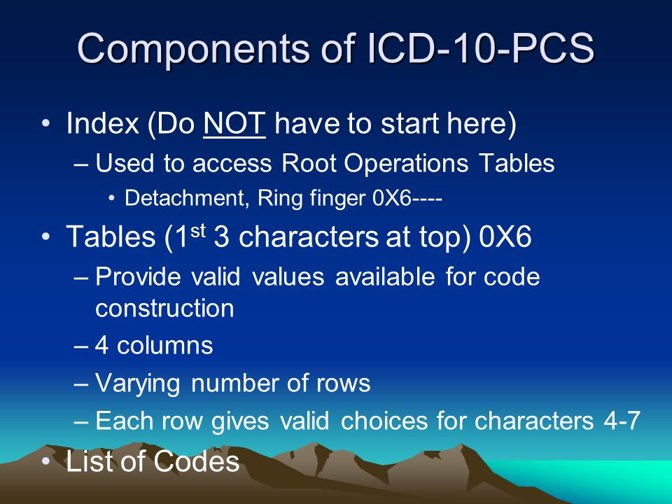Components of ICD-10-PCS